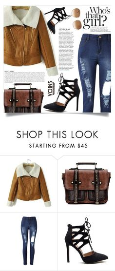 """""""Yoins: Suede Jacket"""" by yoinscollection ❤ liked on Polyvore featuring Anja and Chloé"""