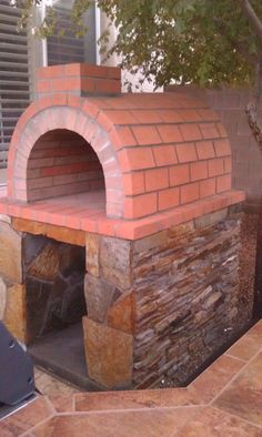 The Woods Family Wood-Fired DIY Brick Pizza Oven in Nevada by BrickWood Ovens