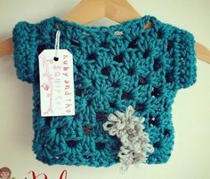 Instagram @rubyandthesquirrel Crochet girl's top. Pic only for inspiration.