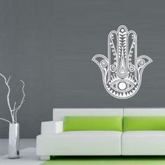 Hamsa Wall Decal Art Decor Decals Sticker India Amulet Protection Yoga Buddhism Mantra (M220)