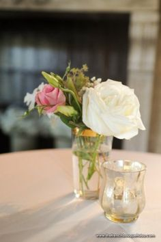 Vintage Centerpiece with Lisianthus