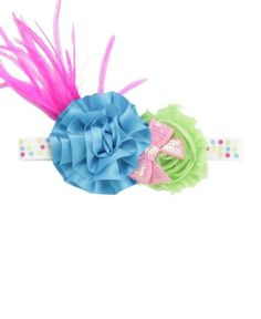 www.milibaby.hu, baba hajpánt  RuffleButts Polka Dot Peyton Headband