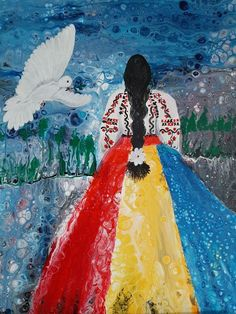 1 Decembrie, Native Country, Moldova, Abstract Flowers, Easy Paintings, Mai, Romania, Folk Art, Printables