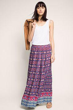 Esprit - Pattern mix maxi skirt at our Online Shop