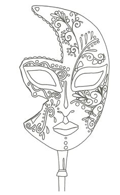 "iColor ""I Love Coloring II A&E"" ~ masque de Venise Make your world more colorful with free printable coloring pages from italks. Our free coloring pages for adults and kids. Coloring Book Pages, Printable Coloring Pages, Coloring Sheets, Mask Template, Quilling Patterns, Free Coloring, Kids Coloring, Colorful Pictures, Embroidery Patterns"