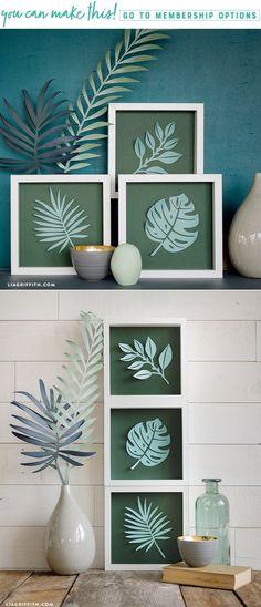 New Bathroom Art Diy Craft Projects 41 Ideas Diy Paper, Paper Art, Paper Crafts, Paper Cutting, Cuadros Diy, Seashell Projects, Paper Leaves, Diy Décoration, New Crafts