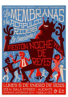 Cartel Las Membranas por Pablo Lacruz