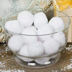 Plush Snowballs - OrientalTrading.com