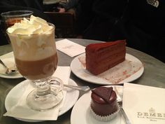 The Sacher Torte and Cake at Café Demel in Vienna, Austria