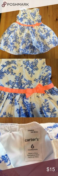 6 month dress Worn once for pictures! Perfect condition! Carter's Dresses Formal