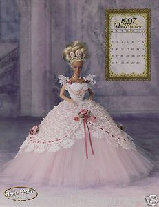 Image detail for -Royal Ballgown Victorian Dress Barbie Doll Crochet Pattern Book Annie ...