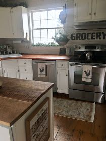 DIY reclaimed wood kitchen countertops, farmhouse kitchen, fixer upper style, old house Diy Butcher Block Countertops, Butcher Block Kitchen, Wood Countertops, Reclaimed Wood Kitchen, Reclaimed Wood Furniture, Kitchen Wood, Salvaged Wood, Kitchen Stuff, Kitchen Ideas