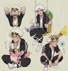 Guzma, Skitty, Spinarak, Wimpod - Pokemon