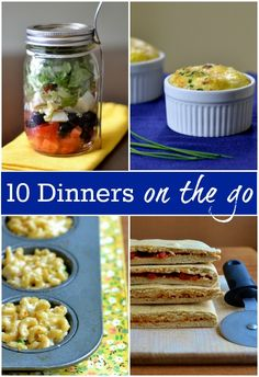 10 Dinners on the Go | Real Food Real Deals #healthy #recipes #travel