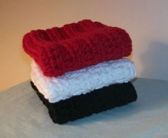 Red White and Blue ~ Dishcloths for the 4th of July!