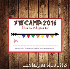 A personal favorite from my Etsy shop https://www.etsy.com/listing/294004753/girls-camp-award-young-women-lds-instant