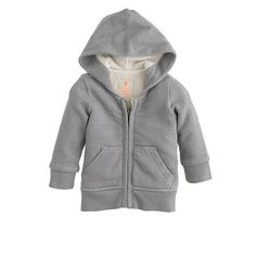 J.Crew Crewcuts - Baby sherpa hoodie in Portland Grey. Seriously excited that they make a mini version of this snuggly hoodie.