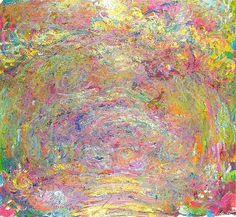 Path under the Rose Trellises, 1924 by Claude Monet. Impressionism. landscape