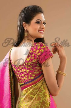 Cutwork Blouse Designs, Pattu Saree Blouse Designs, Fancy Blouse Designs, Bridal Blouse Designs, Blouse Neck Designs, Cut Work Blouse, Hand Work Blouse Design, Stylish Blouse Design, Designer Blouse Patterns
