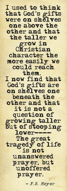 unanswered prayer. F.B. Meyer
