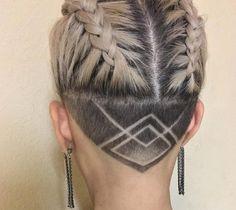 Hair Tattoo for Men and Women - Trendy designs for your new tribal styling - Neue Haare frisuren ideen 2019 - Undercut Hairstyles Women, Undercut Long Hair, Cool Hairstyles, Shaved Undercut, Undercut Pixie, Wedding Hairstyles, Undercut Tattoos, Shaved Hairstyles, Pixie Haircuts
