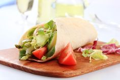 Vegetable salad wrap