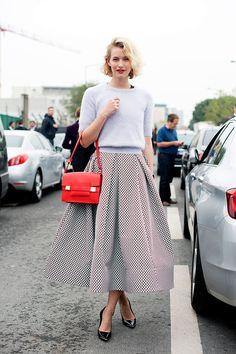 Delvaux  Street style semana de moda en Paris primavera verano 2014 Moda en la calle