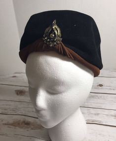 Black Thick Padded Velvet Headband Fascinator Headpiece Hair Band Velour AX3