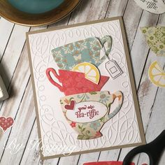H-made Boutique: A Nice Cuppa stampin up- You are tea-riffic