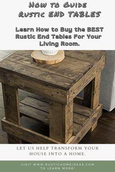 Round End Tables, White End Tables, End Tables With Drawers, End Table Sets, End Tables With Storage, Farmhouse End Tables, Rustic End Tables, Decorating End Tables, Decorating Your Home
