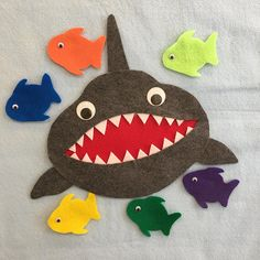 5 Little Fishes Teasing Mr Shark Counting Colors Preschool