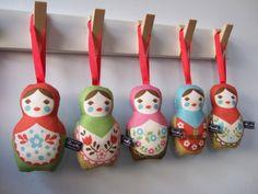 Lavender Matryoshka dolls