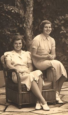 Eunice Kennedy and Rosemary Kennedy