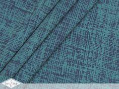 Reststück 0,95 m - Jersey Paint Scribble - petrol / navy ÖkoTex