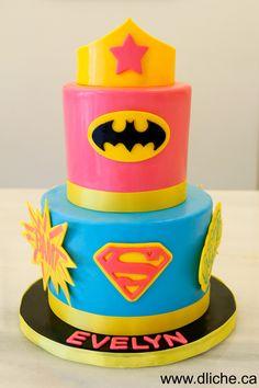 gâteau super héros - super hero cake