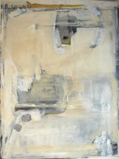 Large Abstract Painting neutral gray beige landscape 36 x 48 by Cheryl Wasilow. $799.00, via Etsy.