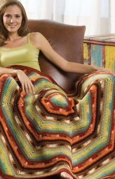 I love circle blankets. They make so much more sense than square. #crochet #blanket