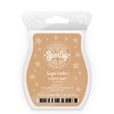 Sugar Cookie Scentsy Bar    Warm, sweet blend of butter, sugar and creamy vanilla.    Your Price: $5.00