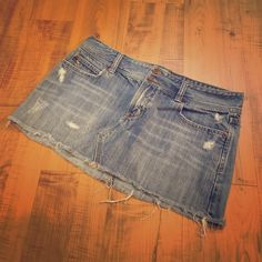 Abercrombie & Fitch Skirt Abercrombie and Fitch distressed denim skirt. Great condition! Abercrombie & Fitch Skirts Mini