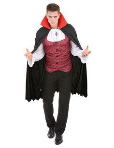 Déguisement vampire homme Halloween : Ce déguisement de vampire Halloween pour homme se compose d'une chemise et d'une cape.La chemise est à manches longues. Les manches sont blanches, le dos est noir et l'avant... Halloween Vampire, Costume, Color Negra, Fashion Backpack, Friday, Products, Mantle, Ideal Man, Parts Of The Mass