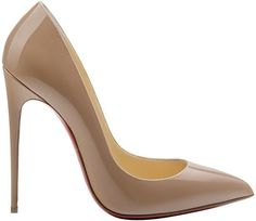 Christian Louboutin So Kate classic pointed toe stiletto pump in nude patent leather - originally debuted in the Fall 2014 Collection - ShoeRazzi
