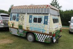 "Cute house on wheels.  Now this is too cute, ""On The Road, but always home"""