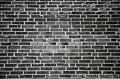 Black Brick Wall Stock Image - Image: 5642221