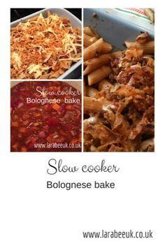 LarabeeUK: |FOOD|slow cooker bolognese bake