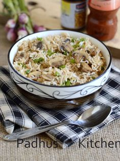 Mushroom Fried Rice-Indian style