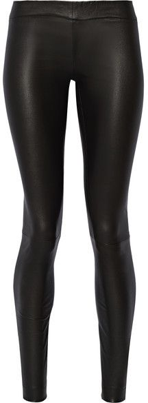 203057727d75 The Row Moto Stretch-leather Leggings - Black - ShopStyle