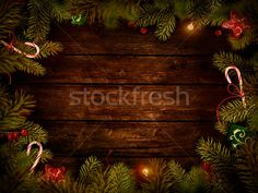 Christmas design - Xmas wreath stock photo by Mythja . (mythja) - Stockfresh #2274528