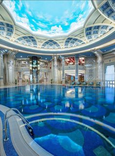 Indoor Pool at the Marvelous The Ritz-Carlton, Riyadh (@Saudi Arabia) by The Ritz-Carlton Hotel Company