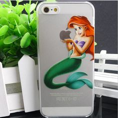 Disney Mermaid Ariel Vanessa Pattern Hard clear Snap on Case Protective Cover For Apple iphone 4 4s, Apple iphone 5 5S, Apple iphone 5C on Etsy, $5.99