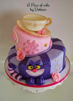 Alice in Wonderland cake#cake #aliceinwonderland